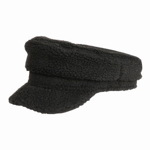 Soft Black Sherpa Harley Style Cap Hat Cozy Black Faux Shearling Harley Style Hat Winter Hat, you'll want to reach for this toasty warm cap for chilly days or having a bad hair day. Sherpa Cap keeps you incredibly warm will looking totally trendy & chic. Perfect Gift Birthday, Christmas, Anniversary, Valentine's Day, Loved One