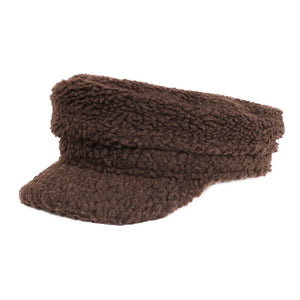 Soft Brown Sherpa Harley Style Cap Hat Cozy Brown Faux Shearling Harley Style Hat Winter Hat, you'll want to reach for this toasty warm cap for chilly days or having a bad hair day. Sherpa Cap keeps you incredibly warm will looking totally trendy & chic. Perfect Gift Birthday, Christmas, Anniversary, Valentine's Day, Loved One