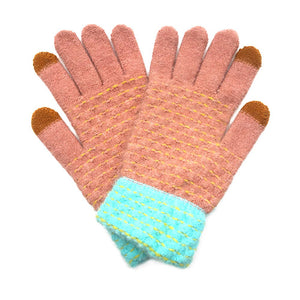 Soft Warm Camel Pop Stitch Smart Touch Gloves Cozy Stitch Accent Knit Gloves, cozy warm design giving it a trendy, chic style to any stylish winter wardrobe. The pop stitch adds an eye-catching detail. Tech-friendly, stretches for snug fit. Perfect Gift Birthday Christmas, Holiday, Anniversary, Valentine's Day, Loved One, etc