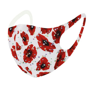 White Face Mask Since face masks are here to stay for a while, why not wear a fashionable one? These trendy masks will brighten your day. Gift your loved one, they will know you are thinking of them.  Valentine's Day Gift, Birthday Gift, Caring Gift, Girlfriend Gift, BFF, Poppy Mask, Valentine Day Mask, Poppy Print Mask, Floral Mask