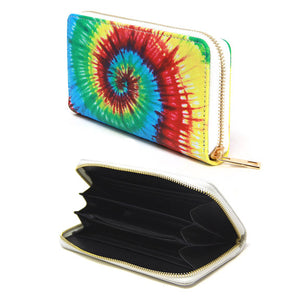 Be the ultimate fashionista, carry this small bag for your money, credit cards, coins, keys, etc Vegan Tie Dye Print Zipper Wallet Tie Dye Print Wallet Tie Dye Wallet makes shopping easy without having to carry huge purse! Perfect Birthday Gift , Anniversary Gift, Mother's Day Gift, Thank You Gift, Graduation Gift, etc