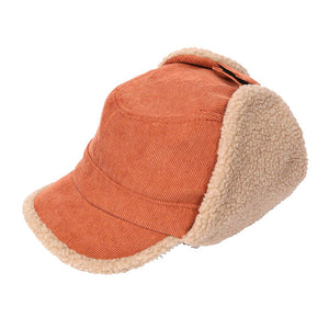 Rust Corduroy Aviator Sherpa Lining Cap Corduroy Aviator Sherpa Lining Hat Winter Hat, you'll want to reach for this toasty warm cap for chilly days or having a bad hair day. Sherpa Cap keeps you incredibly warm will looking totally trendy & chic. Perfect Gift Birthday, Christmas, Anniversary, Valentine's Day, Loved One