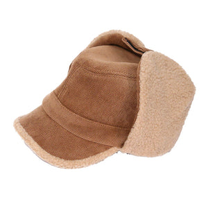 Brown Corduroy Aviator Sherpa Lining Cap Corduroy Aviator Sherpa Lining Hat Winter Hat, you'll want to reach for this toasty warm cap for chilly days or having a bad hair day. Sherpa Cap keeps you incredibly warm will looking totally trendy & chic. Perfect Gift Birthday, Christmas, Anniversary, Valentine's Day, Loved One
