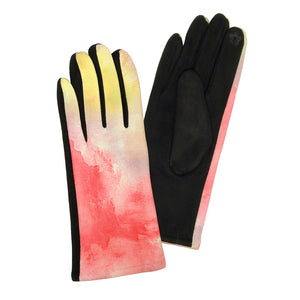 Warm Tie Dye Smart Touch Gloves Tie Dye Gloves Touchscreen Gloves Warm Winter Gloves cozy fashionable staple, softly brushed poly stretch knit, finished with a hint of stretch for comfort, flexibility, elegant stylish look in winter season. Perfect Gift Birthday, Christmas, Stocking Stuffer, Anniversary, Cold Weather