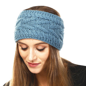 Wide Solid Teal Cable Knit Earmuff Headband Soft Teal Knit Ear Warmer Headband soft cable knit ear warmer will shield you from cold weather ensuring all day comfort. The ear band is wide, soft & comfortable adding a sleek style to your ensemble. Perfect Gift Christmas, Birthday, Holiday, Anniversary, Valentine's Day, Loved One