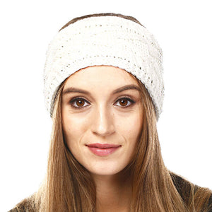 Wide Solid Ivory Cable Knit Earmuff Headband Soft Ivory Knit Ear Warmer Headband soft cable knit ear warmer will shield you from cold weather ensuring all day comfort. The ear band is wide, soft & comfortable adding a sleek style to your ensemble. Perfect Gift Christmas, Birthday, Holiday, Anniversary, Valentine's Day, Loved One