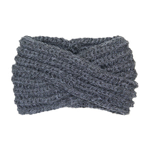 Soft Comfy Wide Solid Charcoal Twisted Soft Charcoal Knit Earmuff Headband Charcoal Twisted Knit Ear Warmer Headwrap, will shield your ears from cold winter ensuring all day comfort, knotted headband creates a cozy, trendy look. Earmuffs are soft & toasty you'll want to wear them everywhere. Perfect Gift Birthday, Christmas, Holiday, Night Out