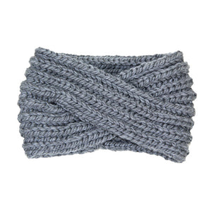Soft Comfy Wide Solid Gray Twisted Soft Gray Knit Earmuff Headband Gray Twisted Knit Ear Warmer Headwrap, will shield your ears from cold winter ensuring all day comfort, knotted headband creates a cozy, trendy look. Earmuffs are soft & toasty you'll want to wear them everywhere. Perfect Gift Birthday, Christmas, Holiday, Night Out