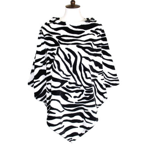 Zebra Print Faux Fur Poncho Zebra Print Faux Fur Ruana Cape, your upper body stays perfectly toasty, timelessly beautiful, feels exceptionally soft plush comfortable to wear, will quickly become one of your favorite accessories, pairs with your winter outfits. Perfect Gift Birthday, Holiday, Christmas, Anniversary
