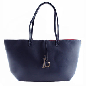 Reversible Supersoft Vegan Leather Tote Handbag flips inside-out, a roomy main compartment, inside pouch w/strap,  multiplies your styling options & keeps you organized on the go. Soft structured base can carry everything you need & become your favorite bag of all times. Chic & reliable, great gift for any occasion.