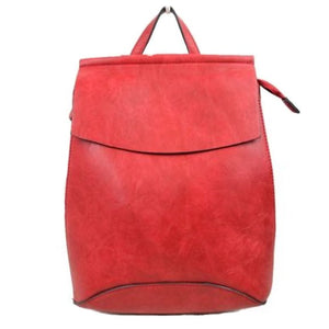 Mary Trendy Modern Vegan Long-lasting Faux Leather Backpack Convertible Bag