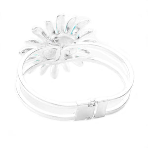 Add this delightful flower bracelet w/bright centerpiece to light up any outfit with timeless elegance & feel absolutely flawless. Adds a pop of pretty color, coordinate with any ensemble from business casual to everyday wear. Perfect Birthday Gift, Valentine's Day Gift, Anniversary Gift, Love You Gift, Thank You Gift