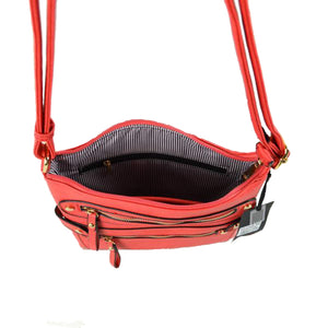 Small Vegan Zip Pocket Crossbody Handbag Faux Leather Cross-Body Hands-Free Bag adds an instant runway to your look, giving it ladylike chic. Cross-Body can go from the office to after-hours with ease & destined to become your new favorite. So many colors to choose! Perfect Gift for loved one or treat yourself to it!
