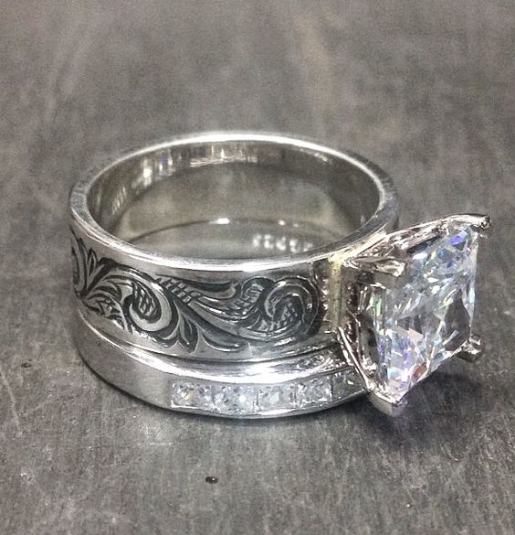Western inspired engagement ring
