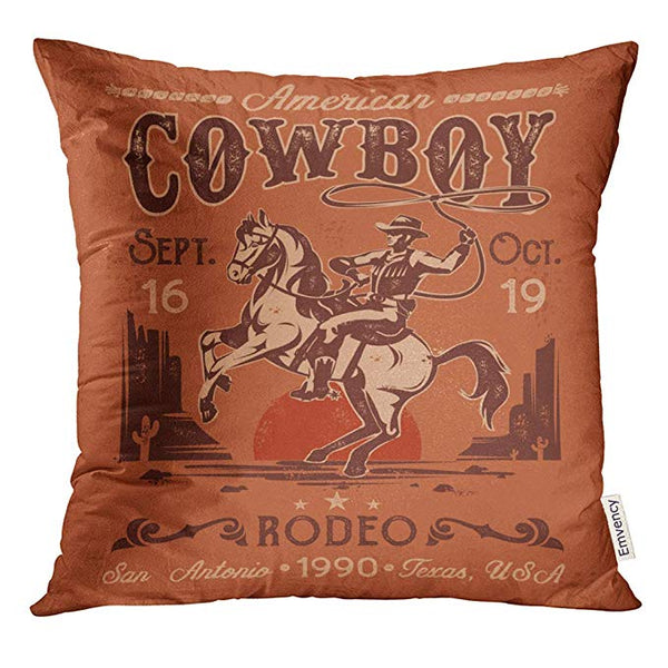 Western throw pillow