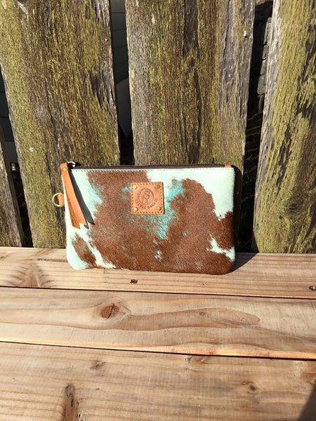 Cowhide purse