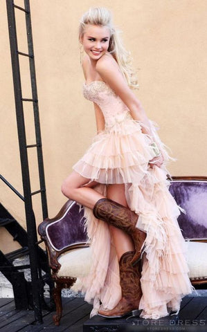 Cowgirl prom dress