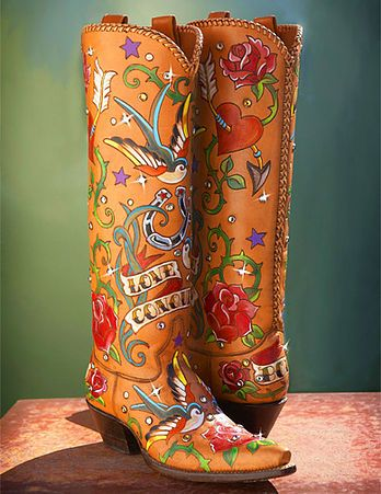 Western fashion cowgirl boots