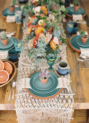 Succulents on a wedding table