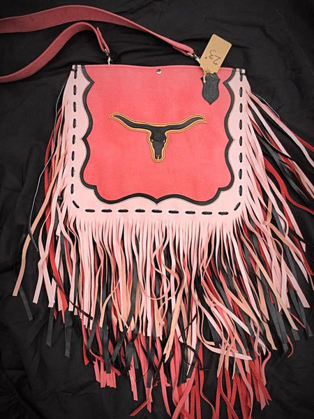 Western leather tooled purse