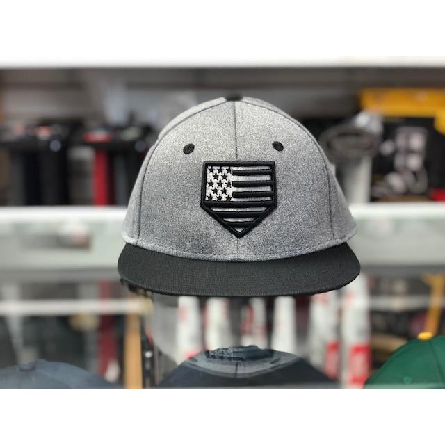 "Rep Your Flag- USA ""GHOST"" Series Gray Dri-Fit (Fitted- Multiple Sizes)"