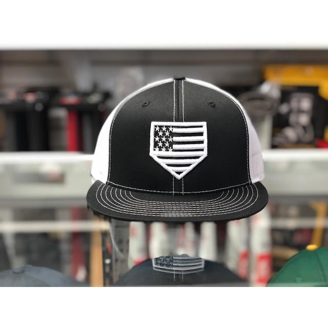 "Rep Your Flag- USA ""Black Series"" Flat Brim Black/White(Snap Back)"