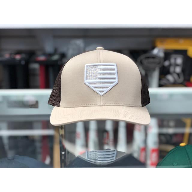 "Rep Your Flag- USA ""SANDLOT"" Series Brown/Khaki Brown (Snap Back)"