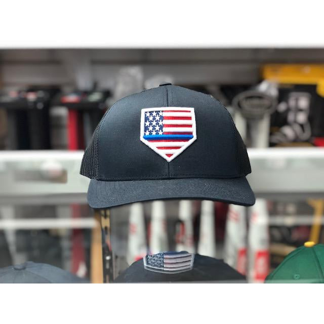 "Rep Your Flag- USA ""THIN BLUE LINE"" All Navy(Snap Back)"