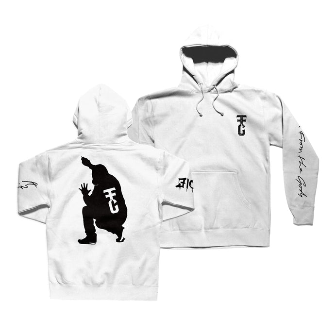 Unite or Die White Hooded Sweatshirt