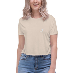 F | Cropped Flowy Tee (Many Colors Available)