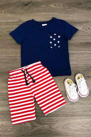 4th of July Short Set
