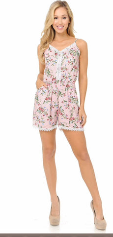 Perfect pink Floral Romper