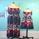 Mother Daughter Floral Sleeveless Long Dress