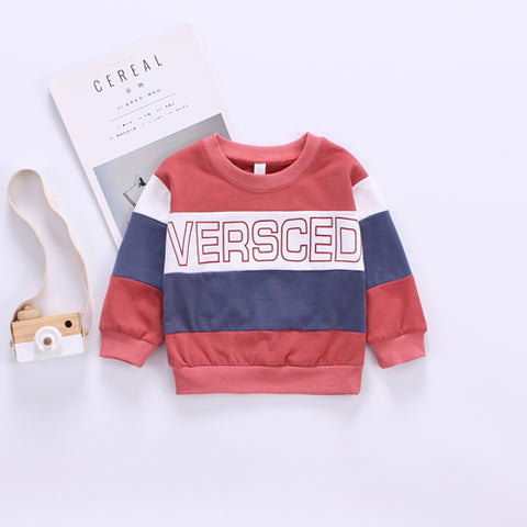 Stripe Letter Fashion Sweater Kids Clothes