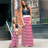 American flag women long dress