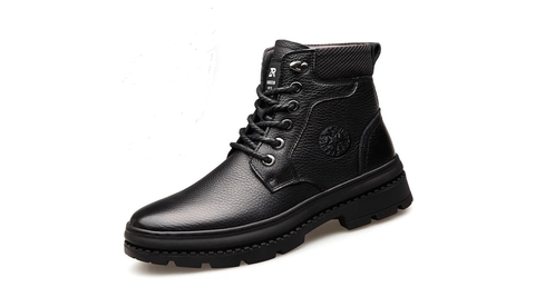 OSCO Winter Leather Men Waterproof Boots - vajshoping