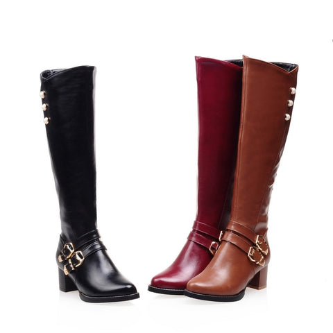 NEW Winter Women Long Knee-High Boots
