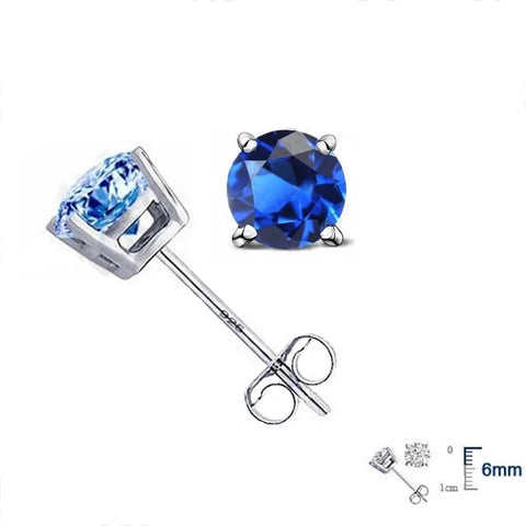 Hot High Quality Silver Women Cubic Zirconia  Earrings 8 Colors