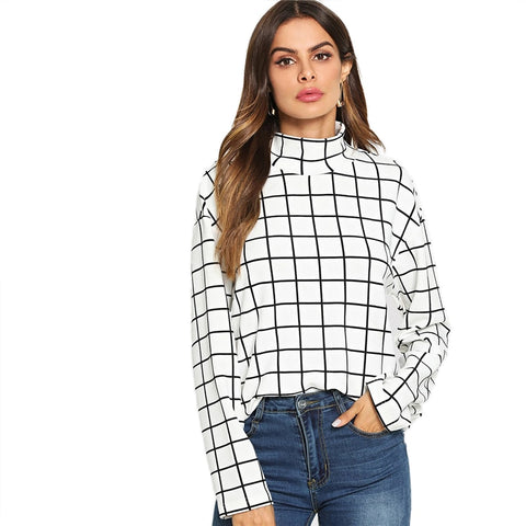 Elegant Long Sleeve High Street Blouse - vajshoping