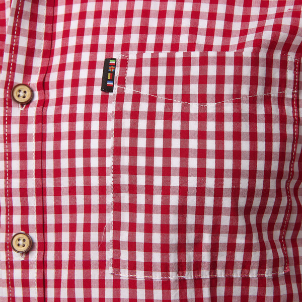 Plaid shirt men summer short sleeve - vajshoping