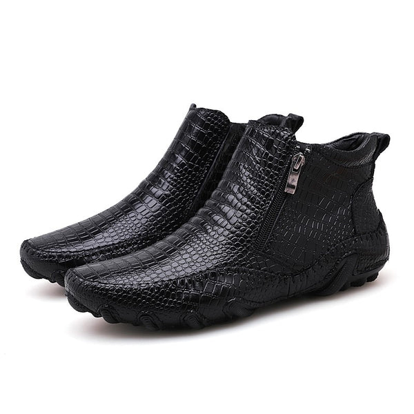 New Design Leather men boots - vajshoping