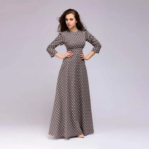 Long Dress With Polka Dots - vajshoping