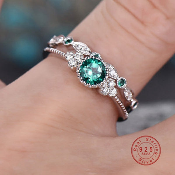 Color Perfect Blue Round Cut Zircon Stone Ring - vajshoping