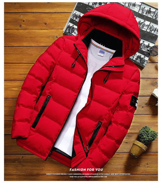 New Fashion Men Winter Jacket Coat Hooded - vajshoping
