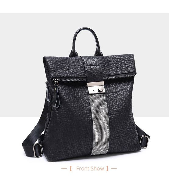 Women PU Leather Fashion Backpacks - vajshoping
