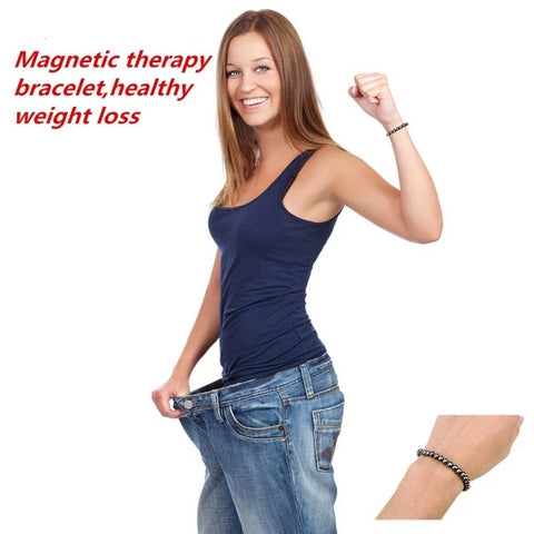 Magnetic Massage Health Bracelet Weight Loss Round - vajshoping