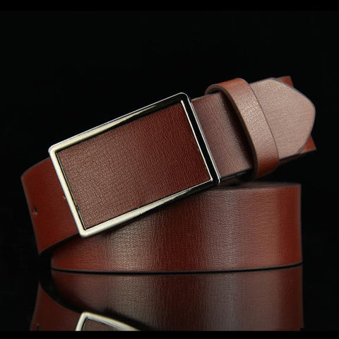 Recreational Retro-style Smooth Buckle Antique Jeans Geniune Leather Belt for Man  B027 - vajshoping