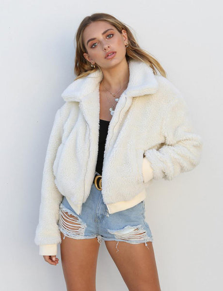 Winter Women  Fluffy Jacket