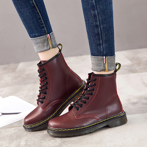 Fashion Ankle Boots For Women Genuine Leather - vajshoping