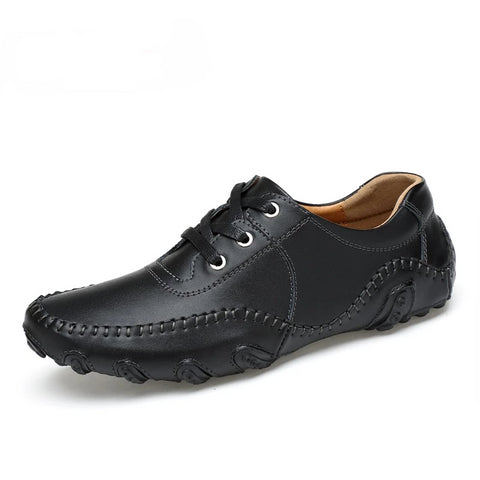 British Genuine Leather Men Loafers Shoes - vajshoping